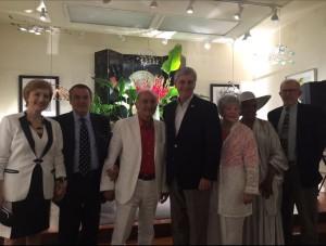 Da destra il Sindaco di Jackson, Ora Reed pr, Miss Caracci, il governatore del Mississippi Phol Bryant, Mariano Pietrini, Il Professore Tanino Materia Interprete